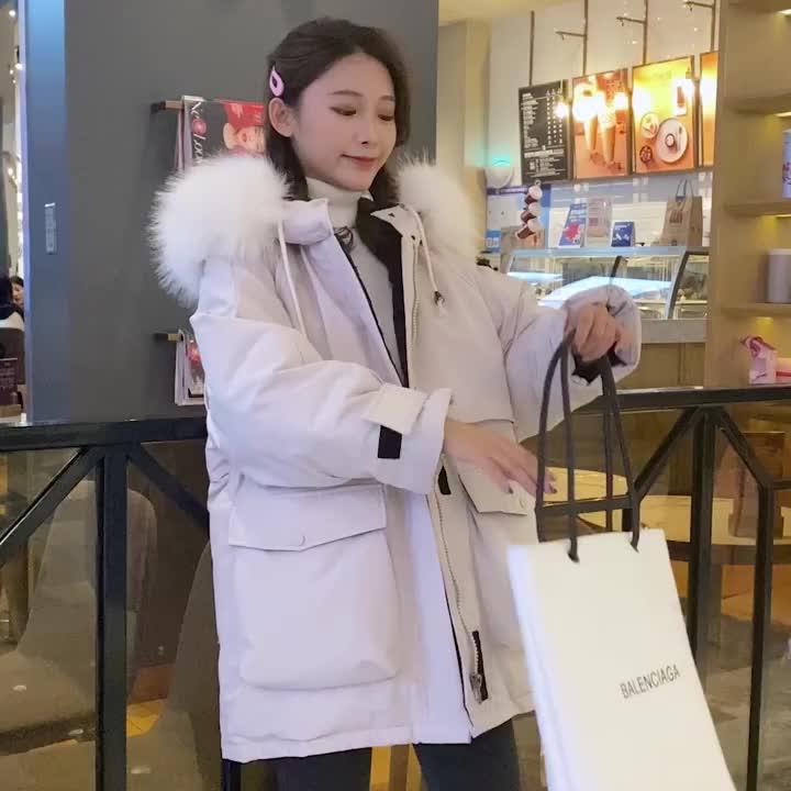 羽絨棉服女2019新款韓版爆款短款冬季派克服小個子加厚寬松外套潮