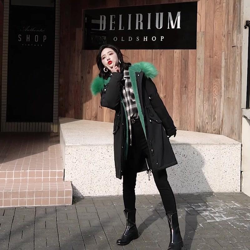 實拍200穿 新款韓版寬松大碼棉衣派克服中長款女裝胖mm棉服外套冬