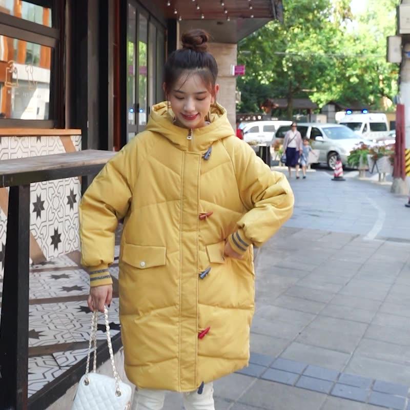 亚博娱乐平台入口大码新韩版羽绒服女中长款大码装棉衣宽松加厚加肥加大码棉服