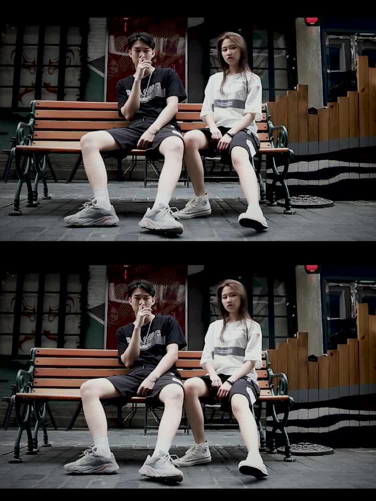 青年情侶短袖t恤夏二件套裝韓版休閑男女運動帥氣搭配流行短褲潮