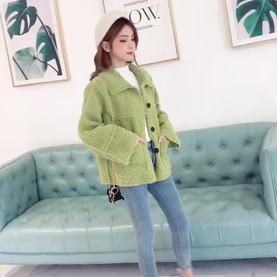短款羊羔毛外套女冬季韓版百搭寬松學生加厚毛絨皮毛一體夾克上衣