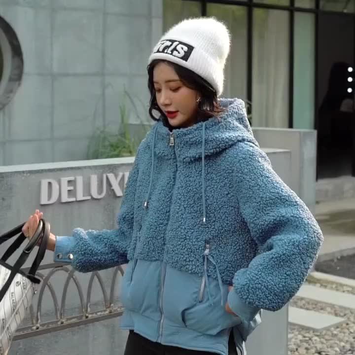 棉袄2019年新款羽绒棉服女短款加厚羊羔毛外套冬季小棉袄爆款棉衣