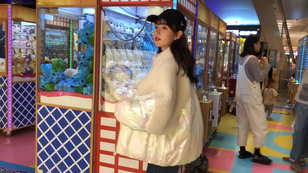 實拍2019韓版羽絨服羊羔毛外套女顆粒絨皮草毛呢立領外套棉服