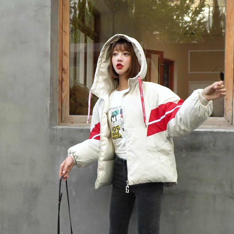 實拍2019冬季新款韓版時尚學生寬松外套學院風棉衣外套短款羽絨服