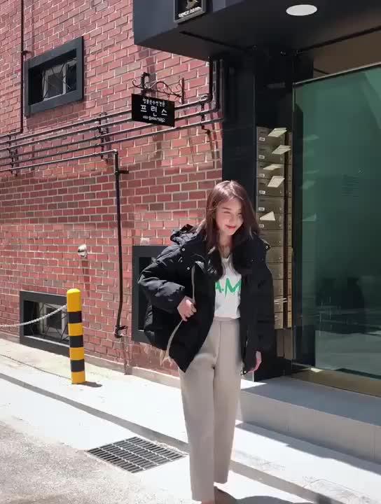 實拍短款棉服女2019新款冬裝面包服韓版太陽帽棉衣寬松bf棉襖外套
