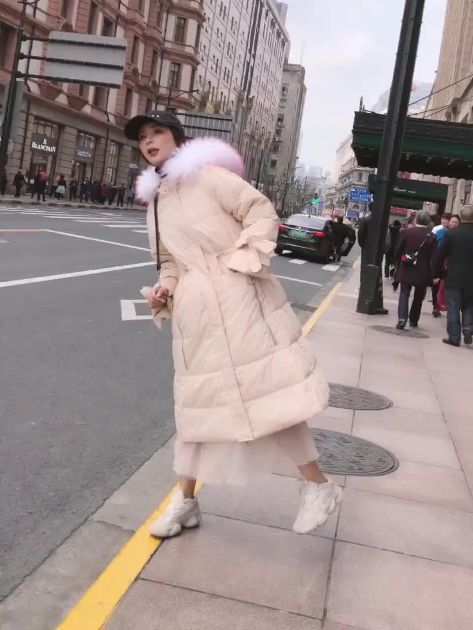 2019新款寬松加厚韓國羽絨服女中長款大毛領時尚韓版外套
