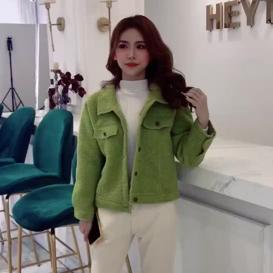 實拍外套女2019新款韓版女裝短外套水貂絨寬松毛衣女很仙的開衫潮