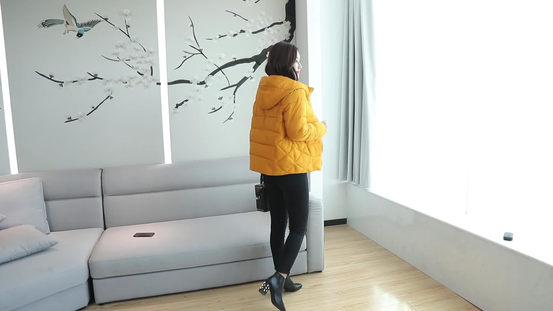 加肥加大码L-6XL200斤胖mm短款棉服女冬季加厚学生羽绒棉服外套