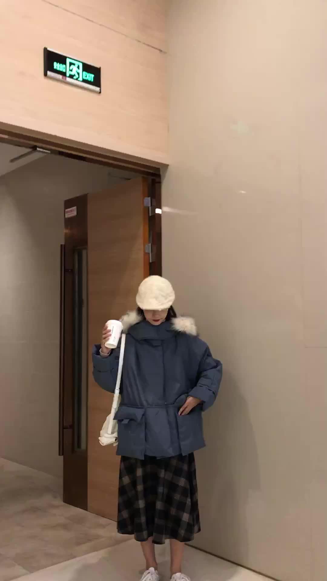 實拍冬季新款羽絨服女短款韓版大毛領棉服面包服ins網紅棉衣外套