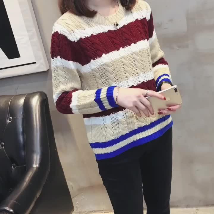 實拍2019秋冬季新款大碼女裝胖mm修身顯瘦毛衣胖妹妹時尚針織衫