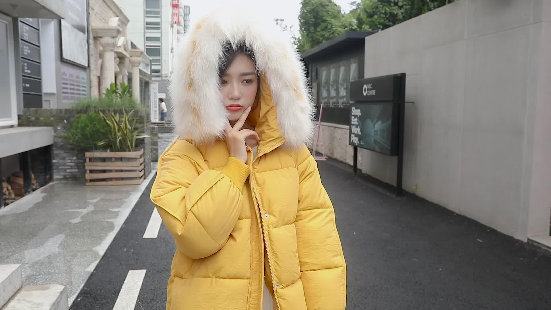 实拍2019新款冬季棉衣女韩版羽绒棉服宽松面包服东大门小棉袄外套
