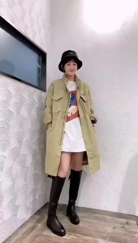 2019秋季新款韓版時尚休閑個性貼布徽章中長款風衣外套女