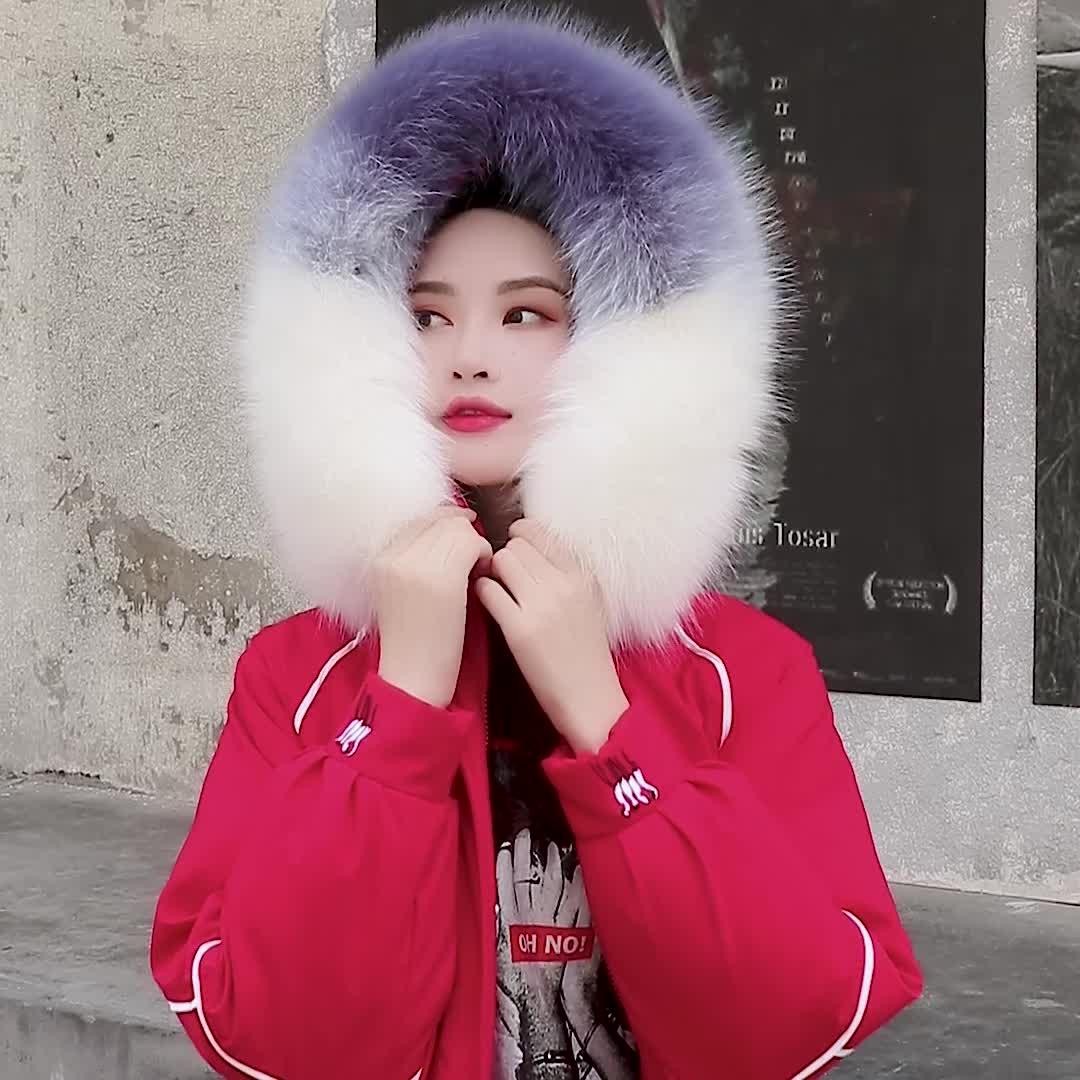 亚博娱乐平台入口2019冬季新款羽绒服中长款两面穿仙鹤女宽松版大毛领加厚棉服