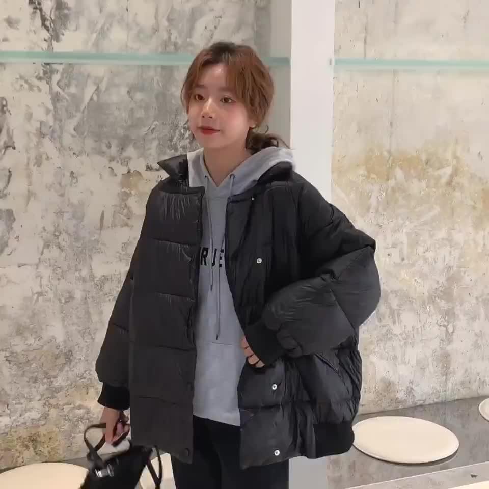 做到年底款 女學生森系韓版寬松oversize面包服冬季ins港風棉衣